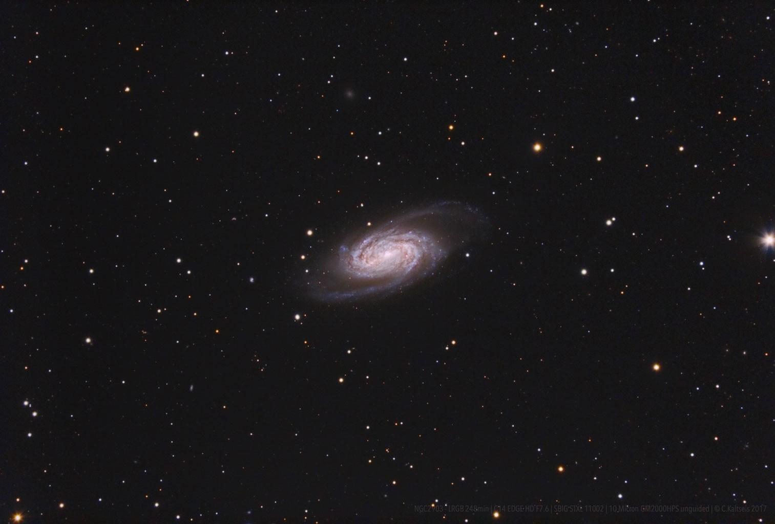 Anwendung: LRGB-Aufnahme der Galaxie NGC 2903 von Christoph Kaltseis, gewonnen mit einem C14EdgeHD mit f/7-Reducer und einer SBIG-CCD-Kamera.