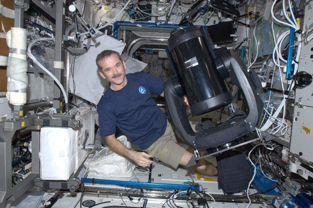 Anwendung: Ein Celestron CPC 925 mit Feather Touch Fokussiereinheit auf der internationalen Raumstation ISS.
